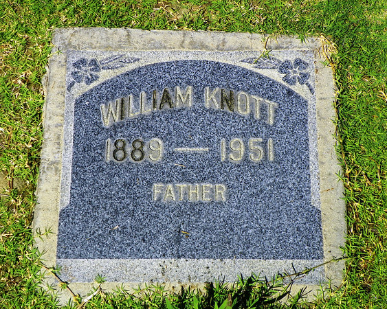 "William ""Billy"" Knott, butcher and owner of Knott's Meat Market on what is now Lincoln Avenue in Anaheim. See here - <a href=""https://oac.cdlib.org/ark"">https://oac.cdlib.org/ark</a>:/13030/kt5f59q23z/?brand=oac4&layout=metadata"