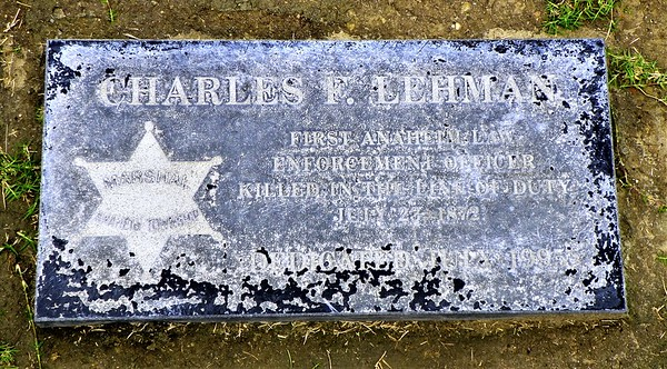 Charles Lehman, the first Anaheim police officer killed in the line of duty
