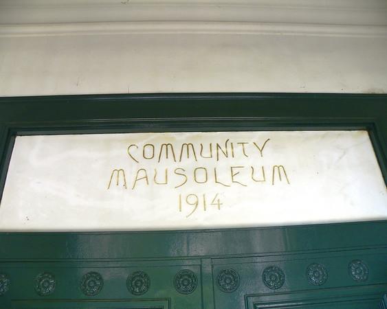Community Mausoleum sign