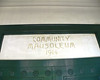 Community Mausoleum sign