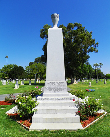 Dwyer Pioneer Monument  - Marie Horstmann Dwyer donated this memorial to the founding of Anaheim.