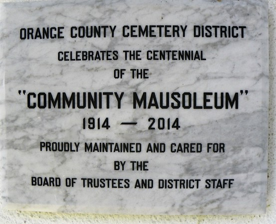 The oldest public mausoleum in California became a centenarian in 2014.