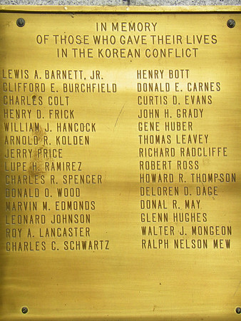 A Korean Conflict Memorial was added