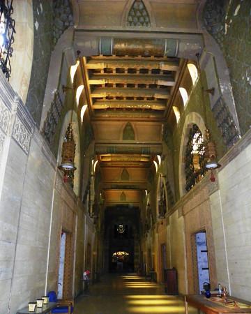 Angeles Mausoleum hallway