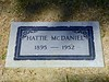 "Hattie McDaniel - ""Mammie"" in Gone With the Wind; triple Walk of Fame star recipient; first African-American interred in this cemetery"