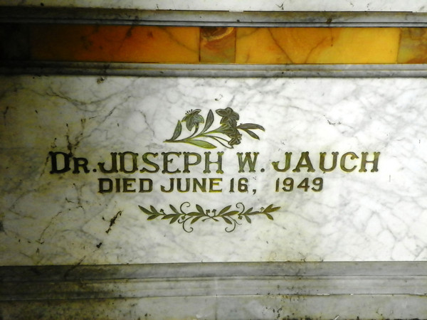 Dr. Joseph Jauch<br /> Third husband of Mary Green Mooney Hotchkiss Jauch