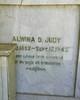 Alwina Dauel Judy, wife of Leslie Judy