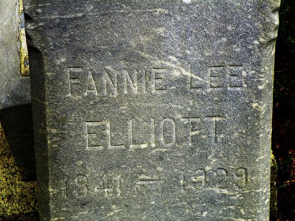Fannie Lee Elliott<br /> 1841 - 1929