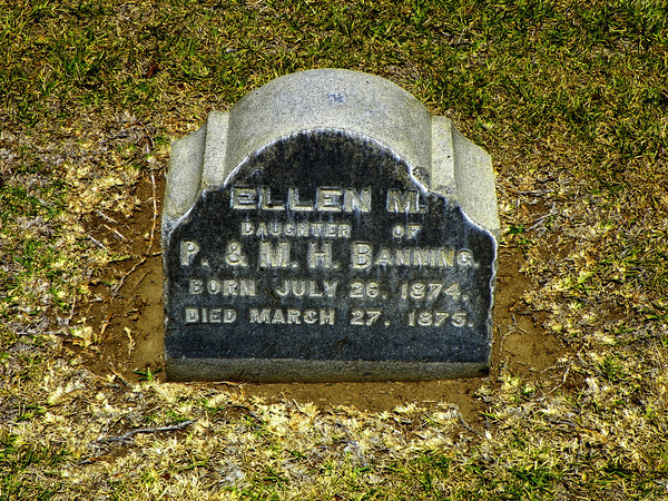 Ellen, daughter of Phineas and Mary. Died at 8 months.