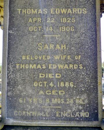 Thomas & Sarah Edwards, close-up