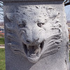 Detail of a wolf's head from the Clark memorial.