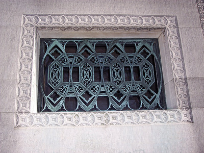 Window detail from the Wainwright mausoleum.