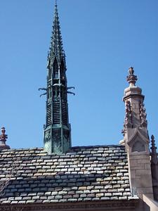 The spire on the Busch mausoleum.