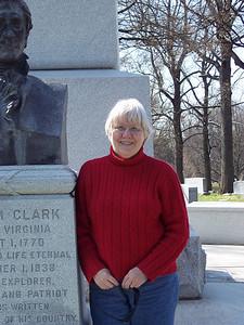 Standing beside William Clark's imposing monument.