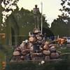 The Civil War soldier memorial statue originally stood atop the Civil War cannon.