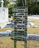 Directions to graves of notable people