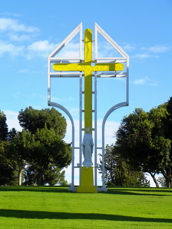 Papal Cross at the Northwest corner of the property