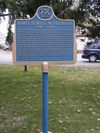 Aimee Semple McPherson plaque