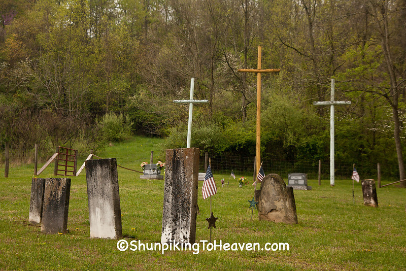 Three Crosses at Butts Cemetery, Athens County, Ohio