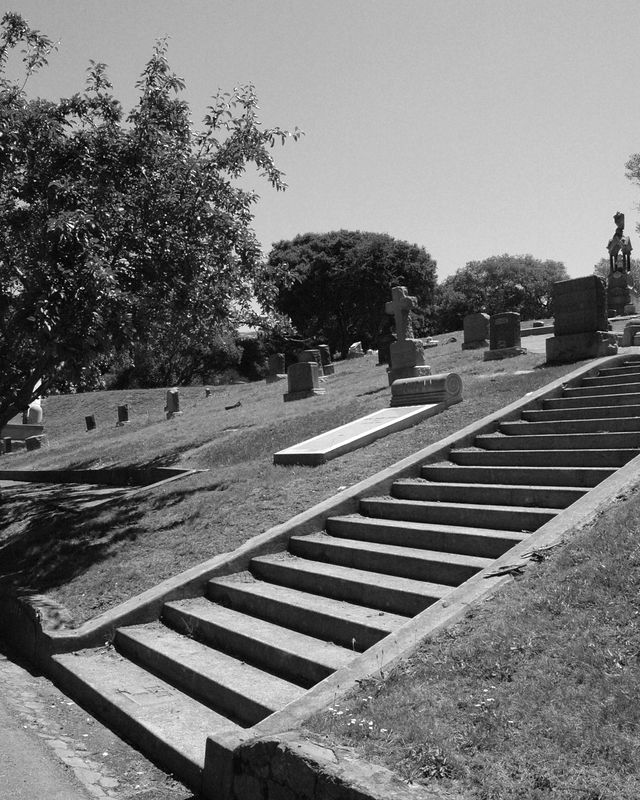 Stairway, Mountain View Cemetery, Oakland, CA