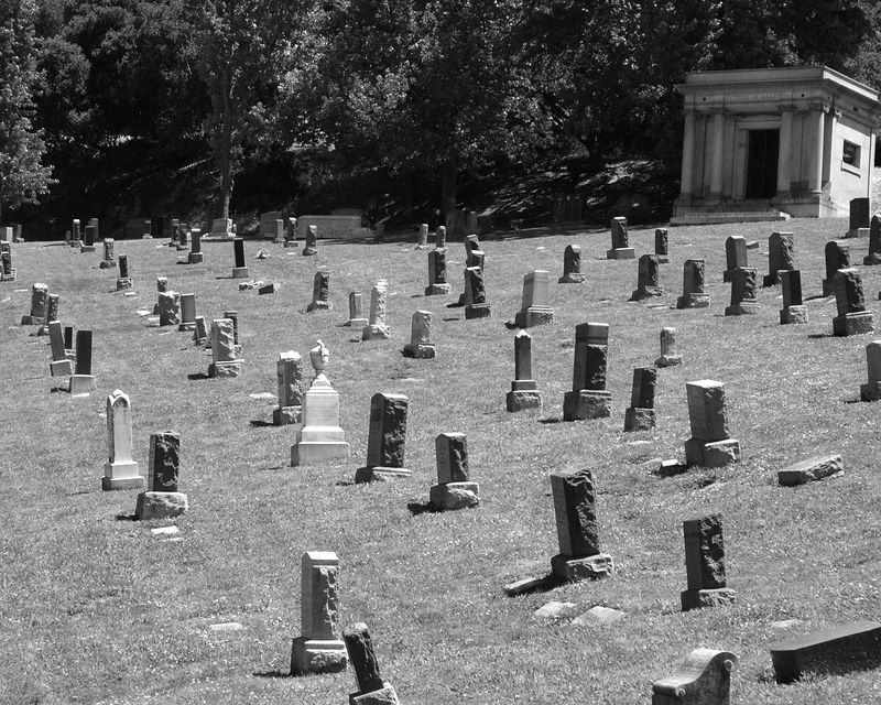 Crooked Headstones, Mountain View Cemetery, Oakland, CA