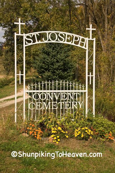 Entrance to St Joseph Convent Cemetery., Houston County, Minnesota
