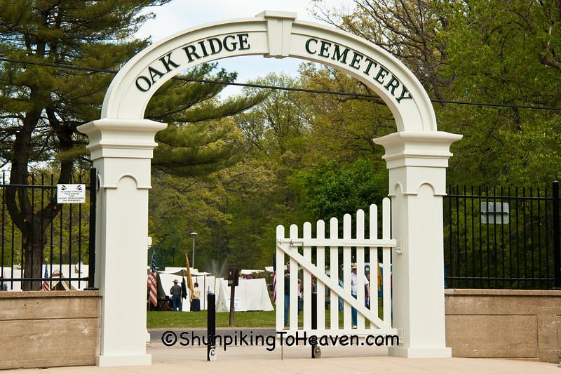 Recreated Arched Entrance, Oak Ridge Cemetery, Springfield, Illinois