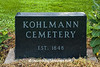 Kohlmann Cemetery Monument, Dane County, Wisconsin