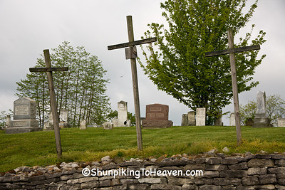 Three Crosses at Blue Rock Cemetery, Muskingum County, Ohio
