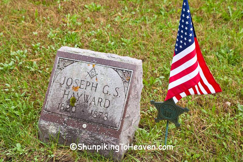 Civil War Veteran and Mason's Grave, Richland County, Wisconsin