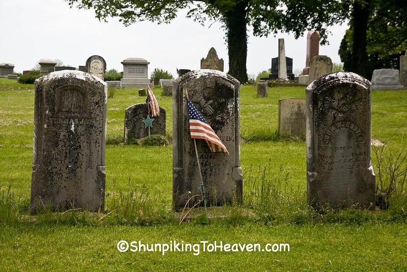 Civil War Veterans' Gravestones, Mt. Pleasant Presbyterian Cemetery, Ross County, Ohio
