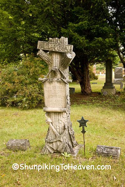 Gravestone of Civil War Veteran, Spiritland Cemetery, Portage County, Wisconsin