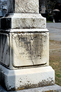 John Arthur Jennings, son of William & Annie died on July 19th, 1857 aged 2 year and 28 days