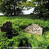 The Dorrian Family gravestone (lying on its side) at Castlehill Cemetery, Ardkeen, County Down
