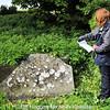 Michelle verifies the headstone inscription details