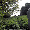 Michelle recording gravestones at Castlehill Cemetery, County Down.