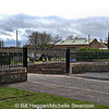 Comber Cemetery, Comber, County Down. Picture taken three days after the caretakers house was demolished by Ards Borough Council. 26/4/2013