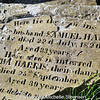 """Tullynakill Cemetery, near Comber, County Down. This stone once carried the inscription, """"Death is a debt to nature due, which we have paid and so must you."""""""