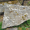 The same stone as seen in the previous photograph with the inscription crumbling. Pictured here on the 4th May 2014