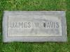 James W. Davis headstone