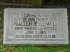 Walter P. Temple headstone