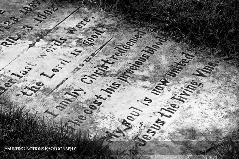 Her Last Words (Pilgrim Home Cemetery, Holland MI)