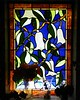 This very old stained glass is still beautiful.