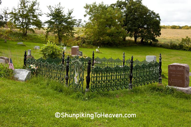 Hughes Family Plot, Bethel Cemetery, Iowa County, Wisconsin