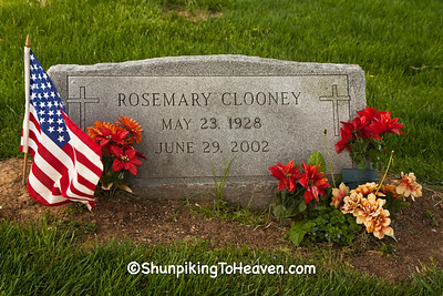 Grave of Rosemary Clooney, St. Patrick Cemetery, Maysville, Kentucky