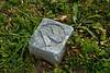 """N"" Footstone, Prairie Mound Cemetery, Oregon, Wisconsin"