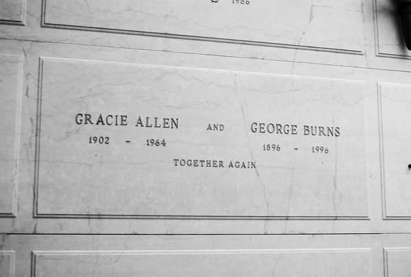 Gracie Allen & George Burns - George always liked to give Gracie first billing
