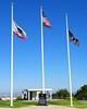 Flags at the Memorial for MOH recipient Edward DeVore, Jr.