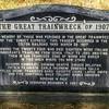 Centennial headstone of a tragic event.