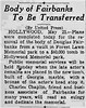 This article appeared in the San Bernardino Sun on May 22, 1941, 17 months after Senior's death.
